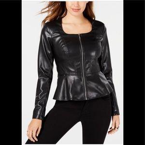 Guess Iris Peplum Faux-Leather Jacket